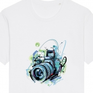 Tricouri personalizate cu aparat foto abstract