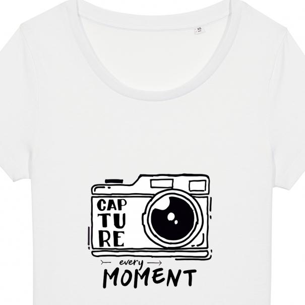 Tricouri personalizate cu mesaj capture every moment