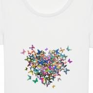 Tricouri personalizate cu inima din fluturi