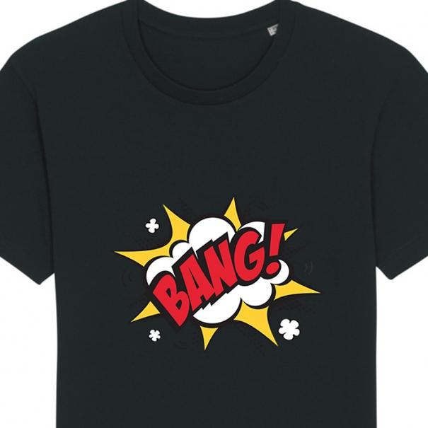 Tricouri personalizate cu mesaj bang