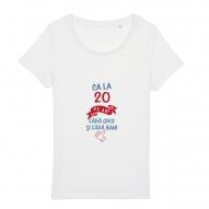 Tricouri personalizate cu mesaj ca la 20 de ani