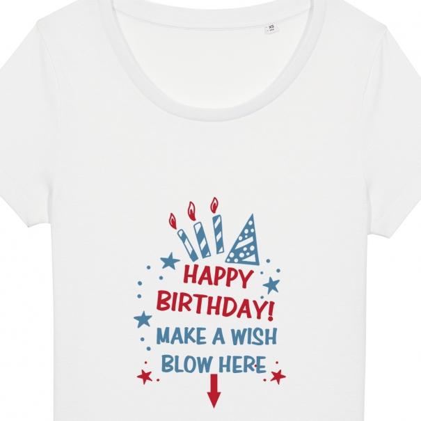 Tricouri personalizate cu mesaj happy birthday