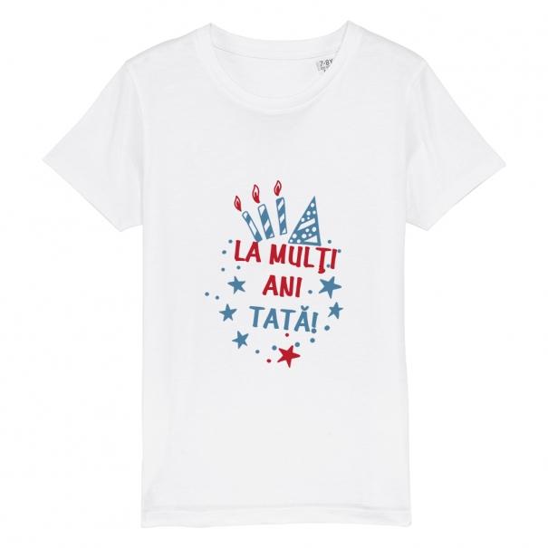 Tricouri personalizate cu mesaj la multi ani tata