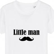 Set 3 tricouri albe familie adulti si copil cu mesaj men