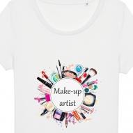 Tricouri personalizate cu mesaj make-up artist