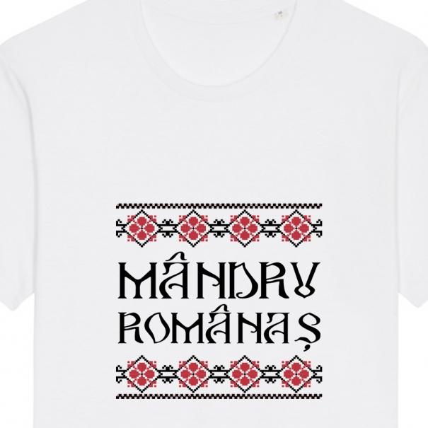 Tricouri personalizate cu mesaj mandru romanas