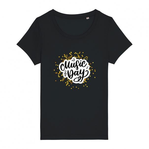 Tricouri personalizate cu mesaj music day