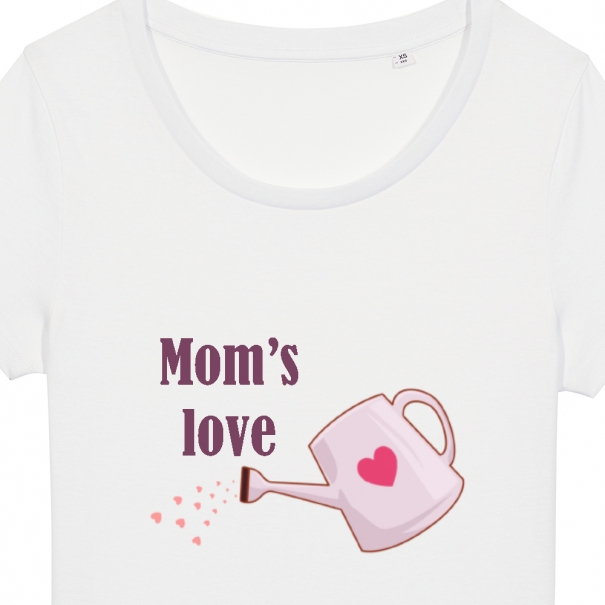 Set 3 tricouri albe familie adulti si copil cu stropitori si floare