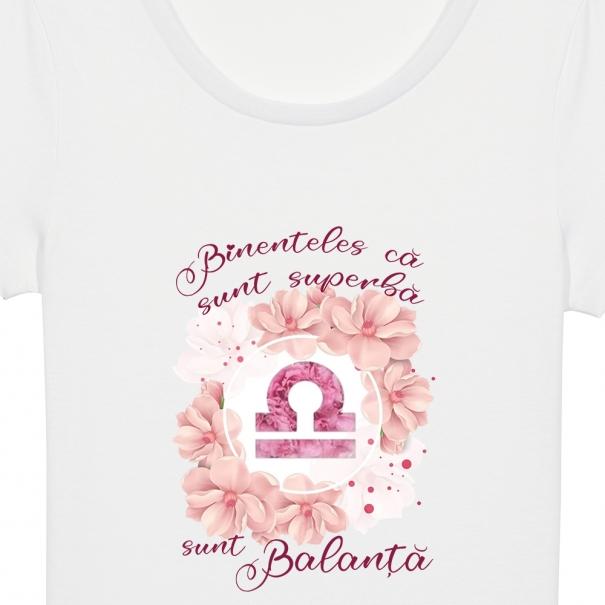 Tricouri personalizate cu flori si mesaj zodie superba