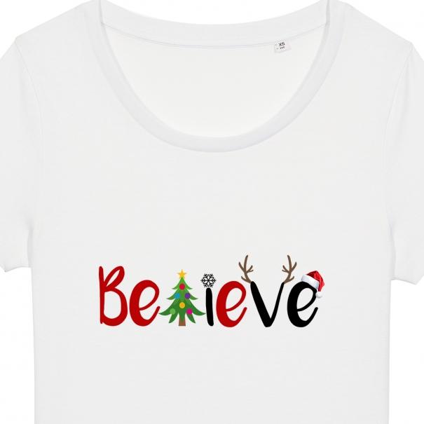 Tricouri personalizate cu mesaj believe