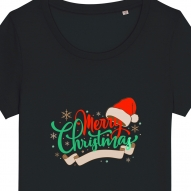 Tricouri personalizate de Craciun cu mesaj Merry Christmas