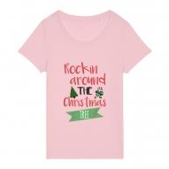 Tricouri personalizate de Craciun cu mesaj rockin around