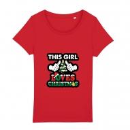 Tricouri personalizate de Craciun cu mesaj this girl