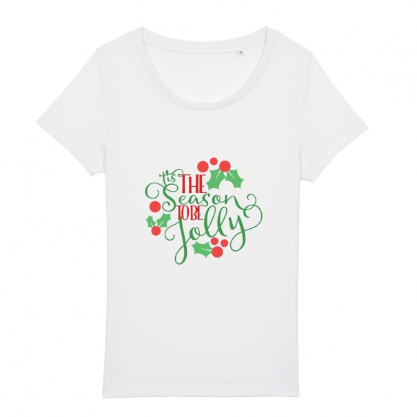 Tricouri personalizate de Craciun cu mesaj tis the season