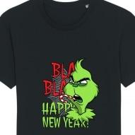 Tricouri personalizate de Craciun cu mesaj bla bla bla grinch