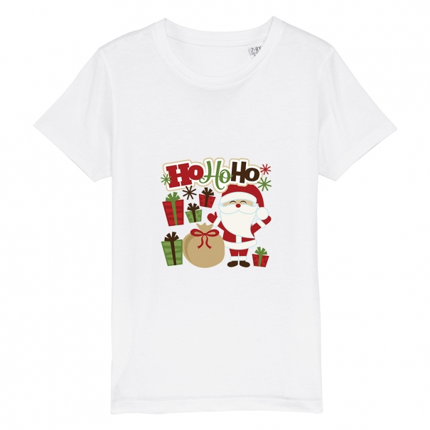 Tricouri personalizate de Craciun cu mesaj ho ho ho