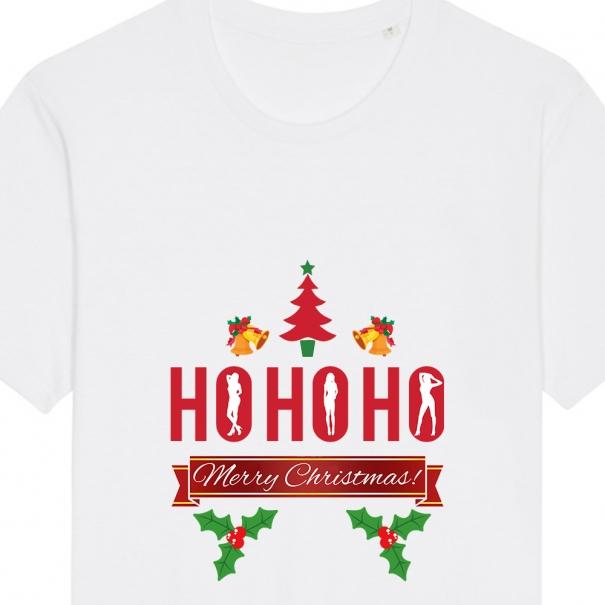 Tricouri personalizate de Craciun cu mesaj hohoho
