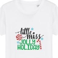 Tricouri personalizate de Craciun cu mesaj little miss