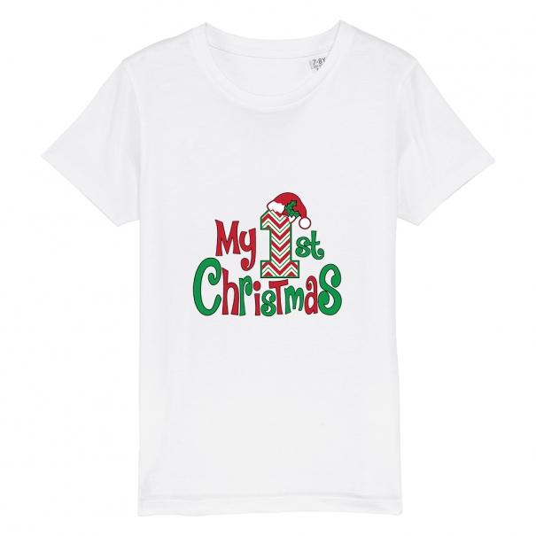 Tricouri personalizate de Craciun cu mesaj my 1 st christmas