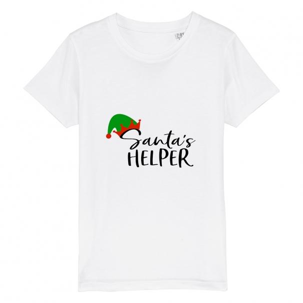 Tricouri personalizate de Craciun cu mesaj santa's helper