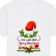 Tricouri personalizate de Craciun cu mesaj we wish you